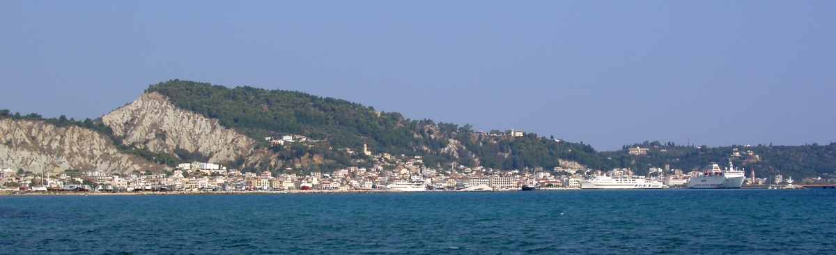 Zakynthos Stadt vom Meer